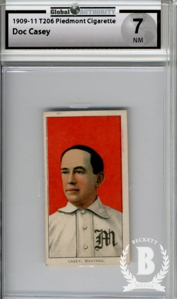 1909-11 T206 #75 Doc Casey ML