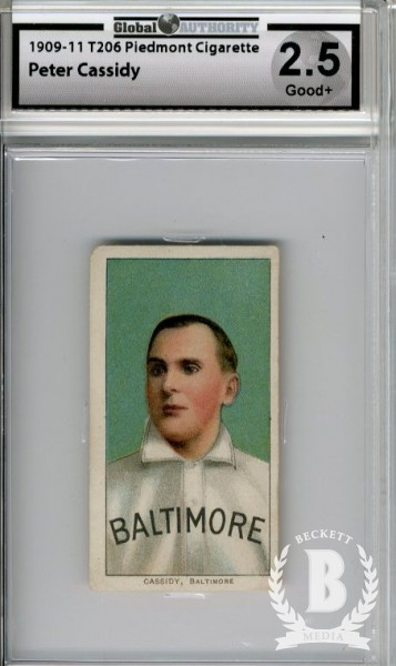 1909-11 T206 #76 Peter Cassidy ML
