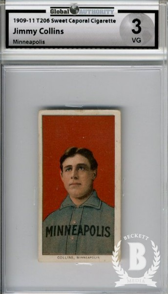 1909-11 T206 #101 Jimmy Collins Minneapolis ML