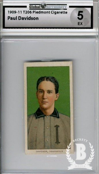 1909-11 T206 #118 Paul Davidson ML