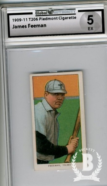 1909-11 T206 #179 Jerry Freeman ML