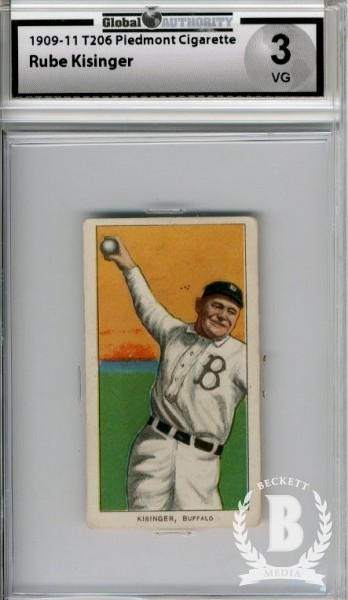 1909-11 T206 #254 Rube Kisinger (Kissinger) ML