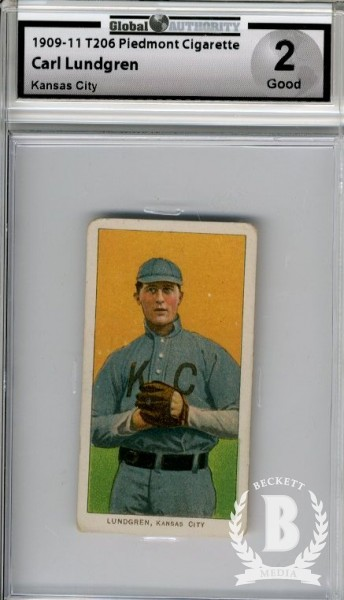 1909-11 T206 #293 Carl Lundgren Kansas City ML