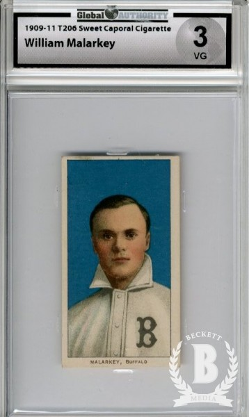 1909-11 T206 #298 Bill Malarkey ML