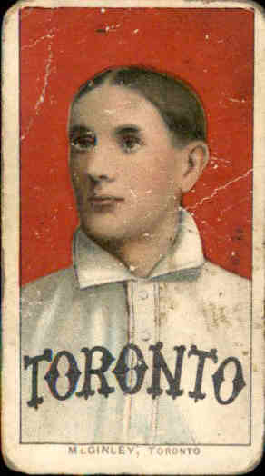 1909-11 T206 #317 Jim McGinley ML