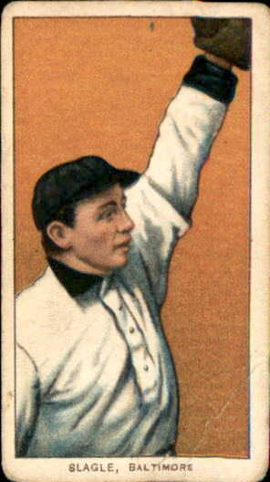 1909-11 T206 #447 Jimmy Slagle ML