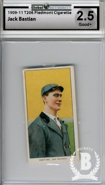 1909-11 T206 #22 Jack Bastian SL