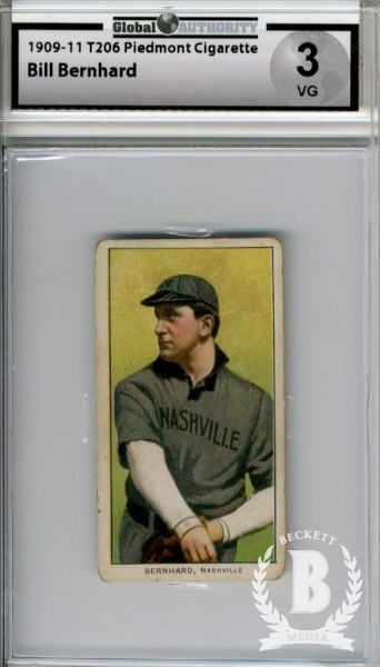 1909-11 T206 #38 Bill Bernhard SL