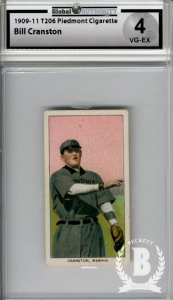 1909-11 T206 #108 Bill Cranston SL