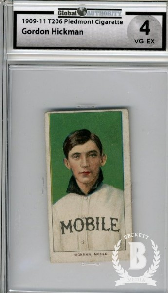 1909-11 T206 #212 Gordon Hickman SL