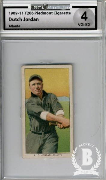 1909-11 T206 #241 Dutch Jordan Atlanta SL