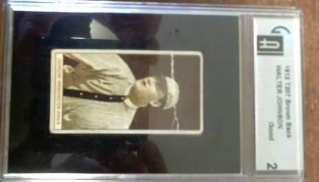 1912 T207 Brown Background #87 Walter Johnson