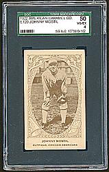1922 E120 American Caramel Series of 240 #25 Johnny Mostil