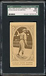 1922 E120 American Caramel Series of 240 #101 Charles Shorten