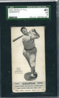 1932 Zeenut #83 Frank Demaree front image