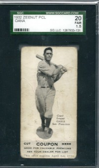 1932 Zeenut #106 Henry Oana front image