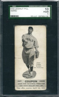 1932 Zeenut #109 Joe Ward front image