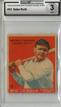 1933 World Wide Gum V353 #93 George H.(Babe)Ruth front image