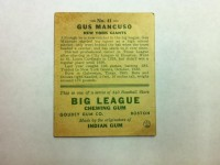 1933 Goudey #41 Gus Mancuso CATCH RC back image