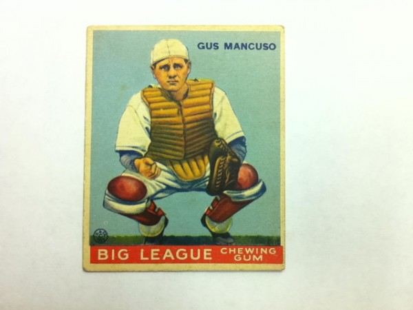 1933 Goudey #41 Gus Mancuso CATCH RC