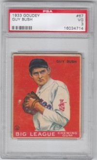 1933 Goudey #67 Guy Bush RC front image