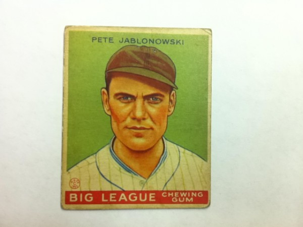1933 Goudey #83 Pete Jablonowski RC