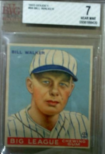 1933 Goudey #94 Bill Walker RC