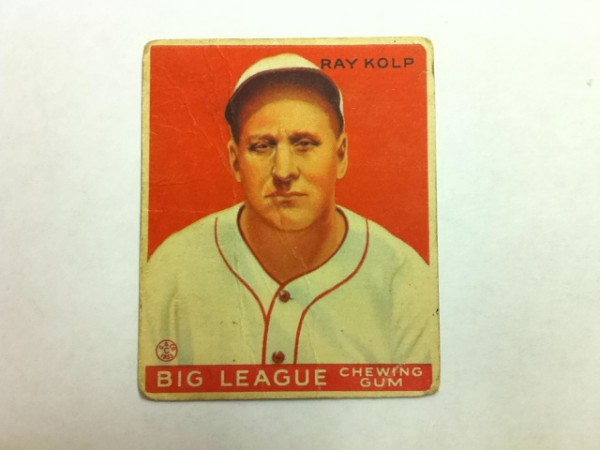 1933 Goudey #150 Ray Kolp RC