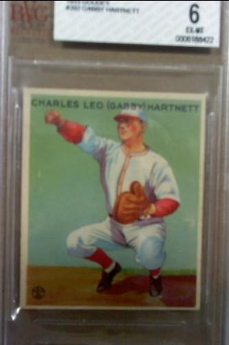 1933 Goudey #202 Gabby Hartnett RC