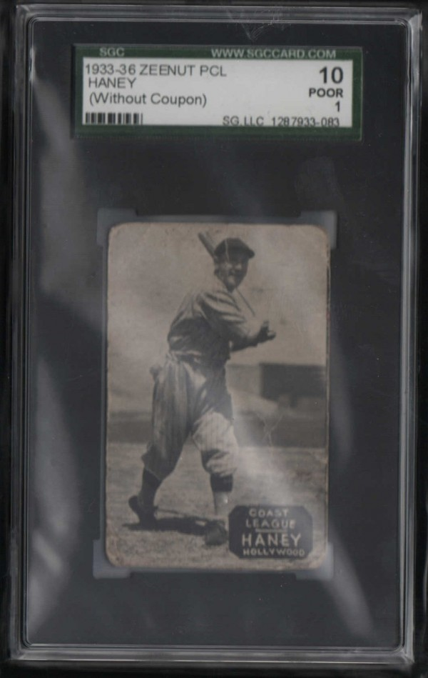 1933-36 Zeenut PCL #3 Fred Haney