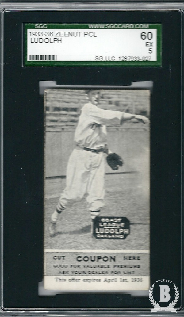 1933-36 Zeenut PCL #61 Willie Ludolph