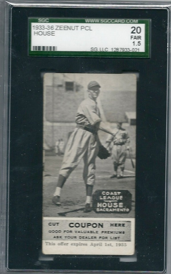 1933-36 Zeenut PCL #90 Andy House