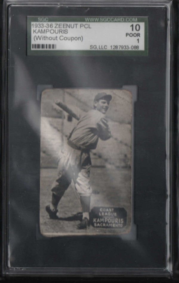 1933-36 Zeenut PCL #91 Alex Kampouris