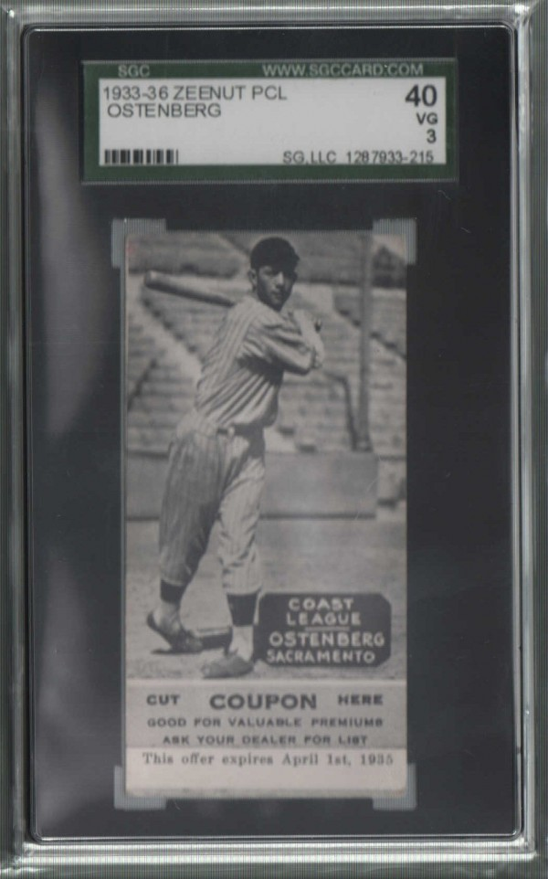 1933-36 Zeenut PCL #93 Leo Ostenberg