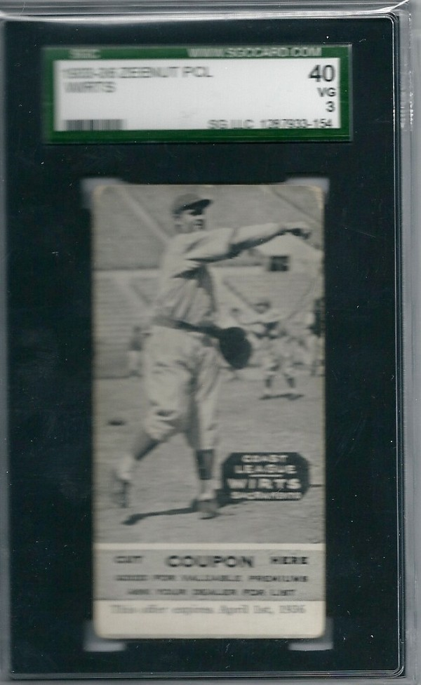 1933-36 Zeenut PCL #97 Elwood Wirts/Elwood Wirts