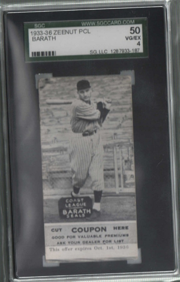 1933-36 Zeenut PCL #101 Steve Barath