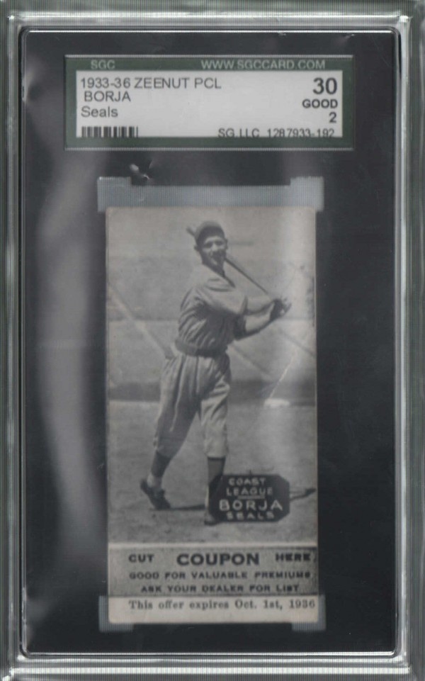 1933-36 Zeenut PCL #103 Tony Borja
