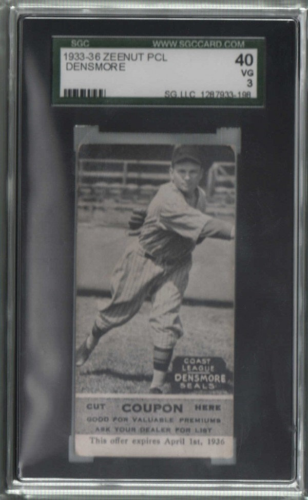 1933-36 Zeenut PCL #111 James Densmore