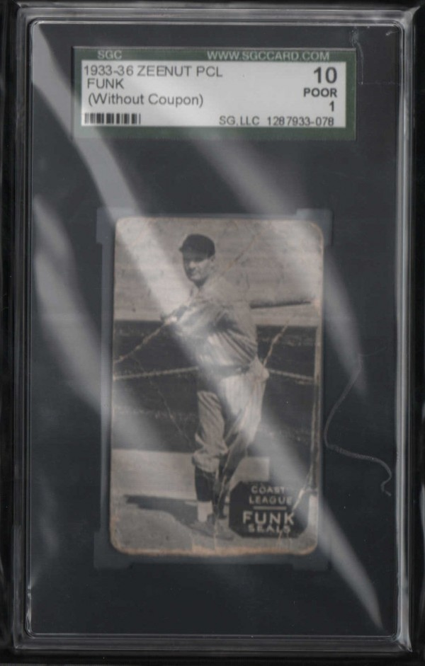 1933-36 Zeenut PCL #114 Elias Funk