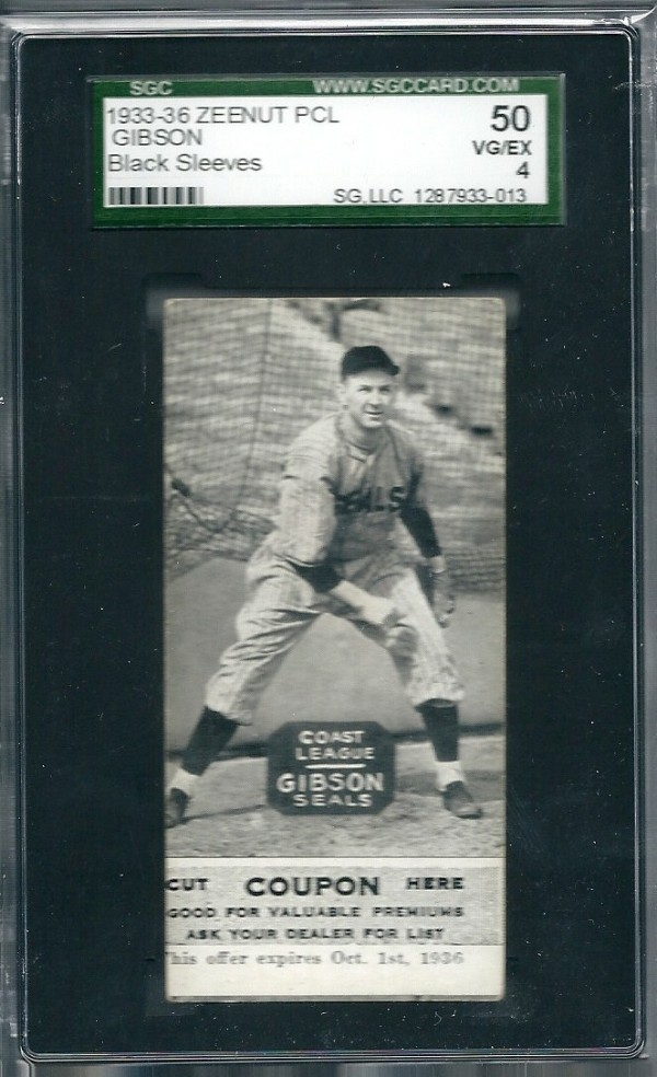 1933-36 Zeenut PCL #117 Sam Gibson