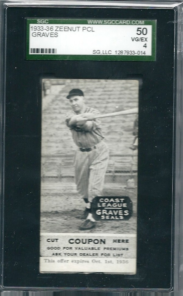 1933-36 Zeenut PCL #119 R. J. Graves