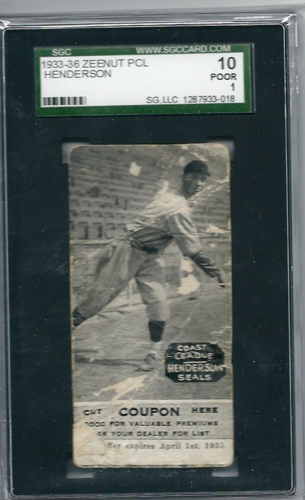 1933-36 Zeenut PCL #121 Bill Henderson