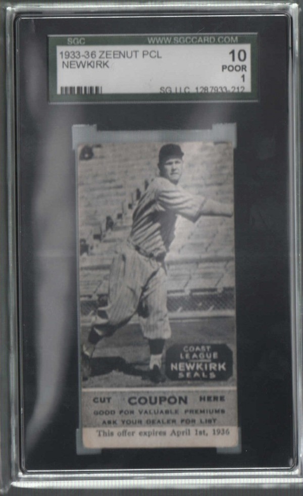 1933-36 Zeenut PCL #134 Floyd Newkirk