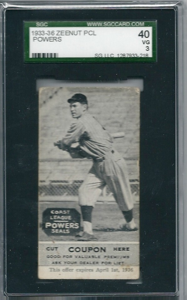 1933-36 Zeenut PCL #138 Les Powers
