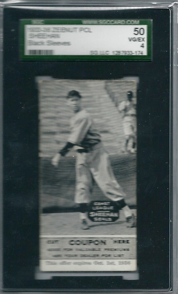 1933-36 Zeenut PCL #144 Ken Sheehan