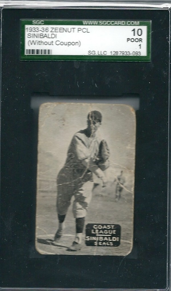 1933-36 Zeenut PCL #145 Caesar Sinibaldi