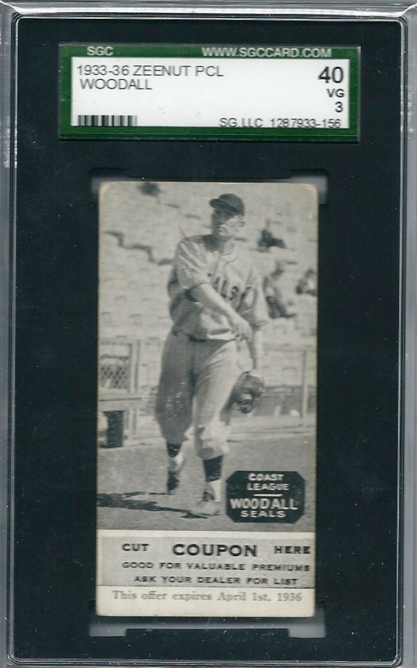 1933-36 Zeenut PCL #151 Larry Woodall/Larry Woodall