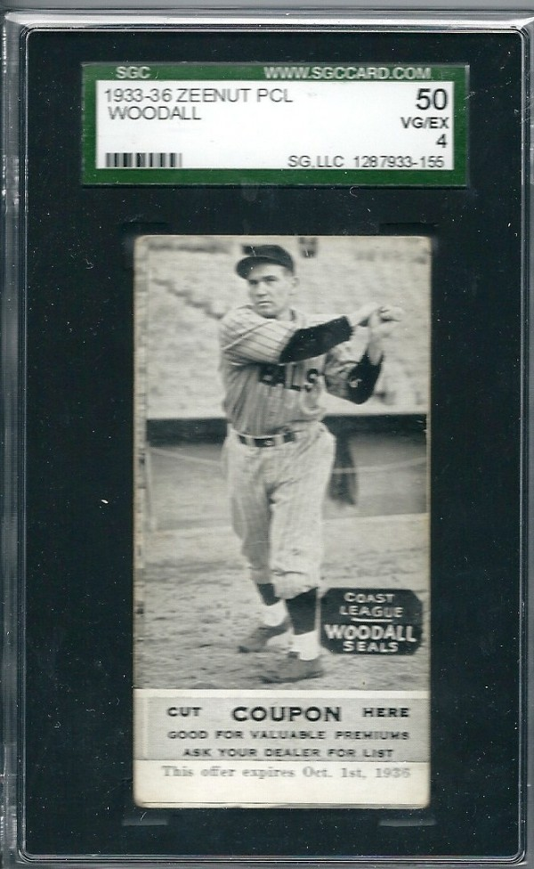 1933-36 Zeenut PCL #152 Larry Woodall