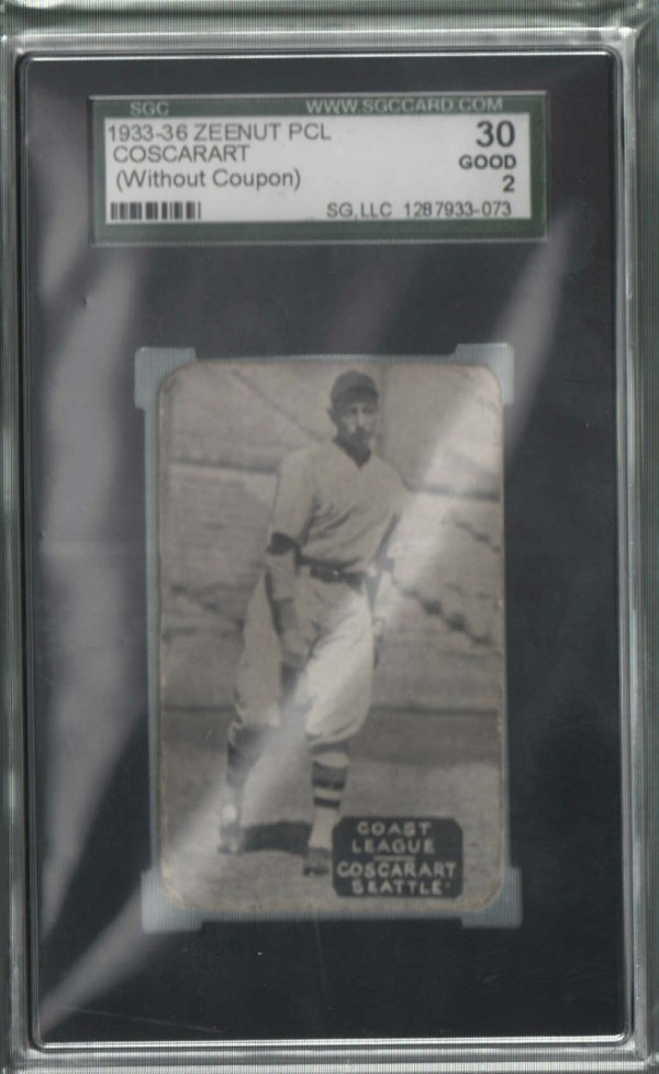 1933-36 Zeenut PCL #155 Joe Coscarart