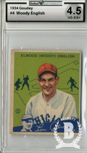 1934 Goudey #4 Woody English